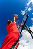 Right to the basket Stock Images