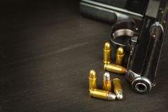 Right To Bear Arms. Arms Control. Detail On The Gun. Place For Your Text. Sales Of Firearms. Stock Image