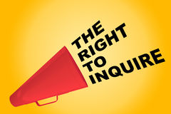 The Right to Inquire concept Royalty Free Stock Photos