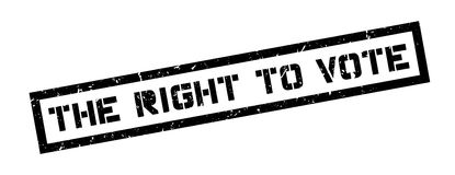 The right to vote rubber stamp Royalty Free Stock Photos