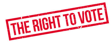 The right to vote rubber stamp Stock Images