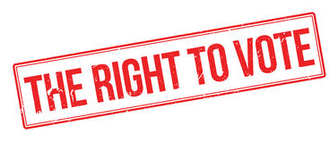The right to vote rubber stamp Stock Image