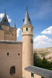 Right tower of segovia castle Stock Photos