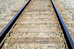 The Right Track. Train tracks on a bright sunny summer day royalty free stock photos