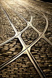 The right tracks Stock Photo