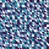 Right triangle pattern. Seamless vector. Background with amethyst, blue, green, lavender, purple, teal, white right triangles Stock Images