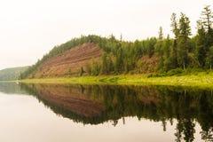 Right tributary of the Yenisei. Krasnoyarsk. Stock Image