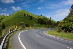Winding road in Awakino, New Zeland Royalty Free Stock Image