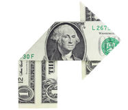 Right Turn Dollar Bill Royalty Free Stock Photography
