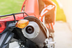 The right turn lamp of the motorcycle. Royalty Free Stock Image