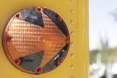 Right turn light of a school bus Royalty Free Stock Photography