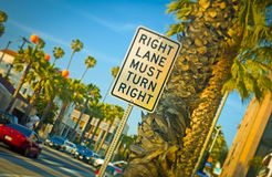Right Turn Sign Royalty Free Stock Images