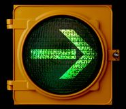Right turn traffic light arrow Royalty Free Stock Photo