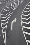 Right turn traffic signs. Right turn of traffic signs in the urban road royalty free stock photography