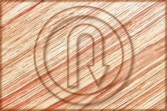 Right u turn sign on wooden board. It is right u turn sign on wooden board Royalty Free Stock Photo