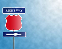 Right way. Index of direction right way with a template and a free place for the logo Stock Photo