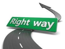 Right way Royalty Free Stock Image
