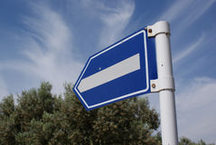 Right way road sign. Stock Photos