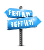 Right way road sign illustration design Royalty Free Stock Photos