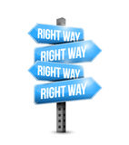 Right way road sign illustration design Stock Photography
