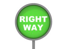 Right way sign Royalty Free Stock Photo