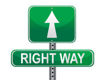 Right Way Street sign Royalty Free Stock Photos