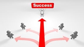The right way of success Stock Photo
