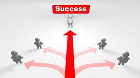 The right way of success. Many paths,many ways.But this is the straight way of success Stock Photo