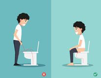 The right way to pee Stock Images
