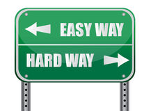 Right Way, Wrong Way. Sign that reads Right Way, Wrong Way - great concept background royalty free illustration