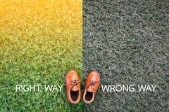 Right way wrong way Royalty Free Stock Image