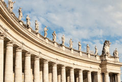 Right wing of  St. Peter's Square Colonnade Stock Image