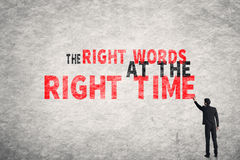 The Right Words At The Right Time Royalty Free Stock Photography