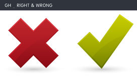 Right and Wrong Stock Photography