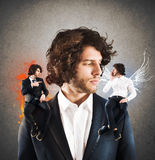 Right or wrong choices in business Stock Photo