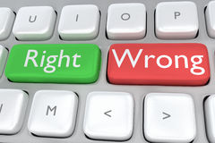 Right/Wrong concept Royalty Free Stock Photography