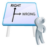 Right or Wrong sign Stock Photos