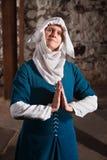 Righteous Medieval Nun Stock Photo