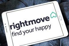 Rightmove nieruchomości firmy logo Zdjęcie Royalty Free