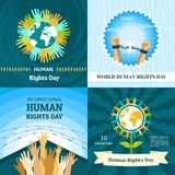Rights Day banner set, flat style royalty free illustration