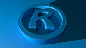 Rights Reserved Symbol Stock Image