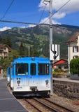 Rigi-Eisenbahn-Lokomotive Stockfoto