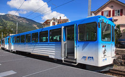 Rigi-Eisenbahn-Zug Lizenzfreie Stockfotos