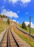 Rigi, estrada de ferro de cremalheira Imagens de Stock