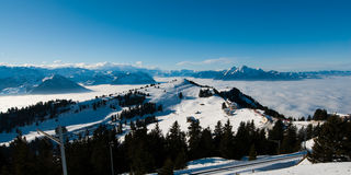 Rigi panorama Royalty Free Stock Photo