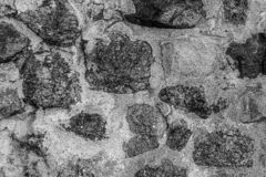 Rigid base gray neutral pattern texture weathered hard cobblestones in cement toned design stock photos