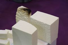 Rigid polyurethane foam for thermal insulation of pipelines royalty free stock photography