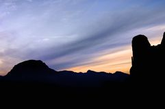 Riglos. View of the mountains known as Mallos of Riglos at sunset, Spain Stock Photo