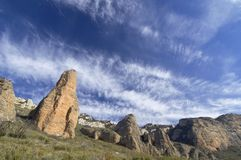 Riglos. View of the mountains known as Mallos of Riglos, Spain Royalty Free Stock Images
