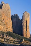 Riglos. Rocky mountains known as Mallos, Riglos, Huesca, Aragon, Spain Royalty Free Stock Photos